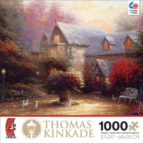 Ceaco Thomas Kinkade The Blessing of Spring Jigsaw Puzzle by Ceaco