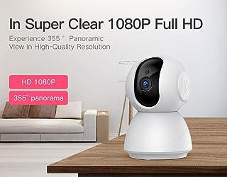 Shopshow Cámara de Seguridad de cámara IP 1080P de 256GB, cámara CCTV inalámbrica de 3.6 mm con vigilancia CCTV de visión Nocturna IR P2P Monitor de bebé cámara para mascotas-256GB-1080P-25MM
