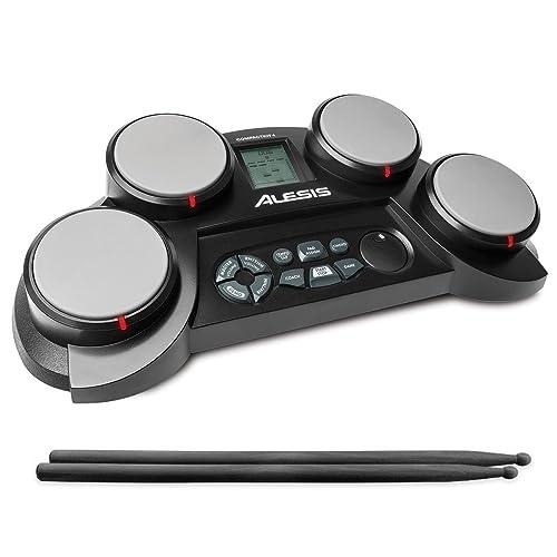 Alesis CompactKit 4-Pad Portable Tabletop Drum Kit (Multicolor)