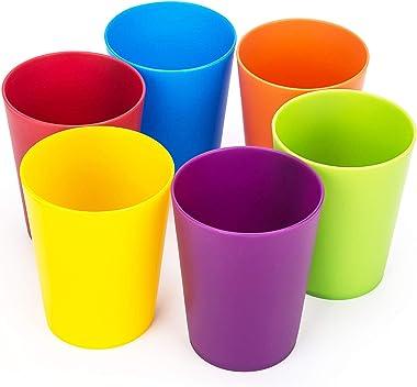 Vasos de plástico irrompibles de 19 onzas, para fiestas, té helado, juego de 12 multicolor