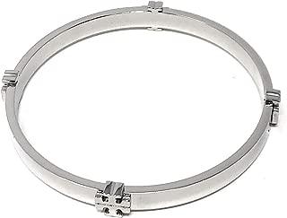 Tory Burch Logo Bangle Bracelet Silver Tone