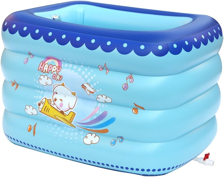 HCJCQYG FJXLZ Aufblasbare Badewanne, Baby Aufblasbares Schwimmbad Isolierung Erhhen Verdickung Kind zusammenklappbare Badewanne Dickere Isolierung Zusammenklappbar Badewanne (Farbe    1)