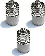 a LED Zdcdj 3pcs E14/adattatore E14/a E27/base adattatore convertitore E14/a E27/base adattatore per lampadine a incandescenza alogene lampade a risparmio energetico