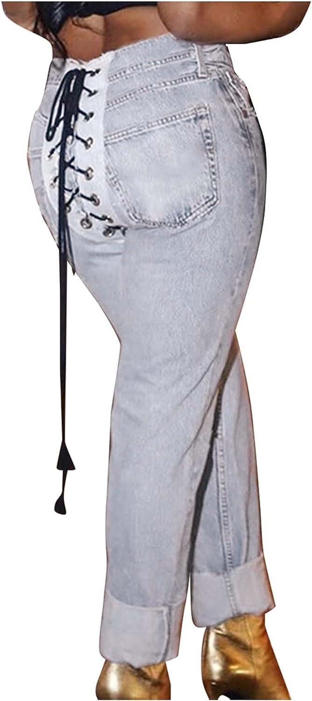 Xiloccer Distressed Denim Pants Womens Running Pants Women Denim Mom Pants Long Jeans for Girls Long Jean Pants for Kids