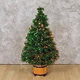 XMASKING Árbol Artificial Verde, Fibras ópticas Multicolor, 60 cm, lámpara 12 V 10 W, árboles de Navidad Artificiales, árboles con Fibras ópticas