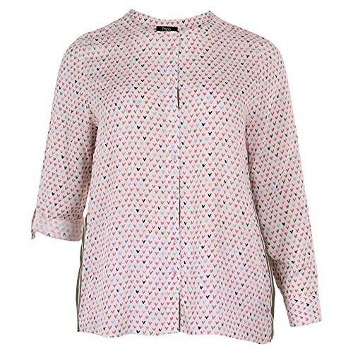 Frapp Damen Modische Bluse mit Allover-Herzen