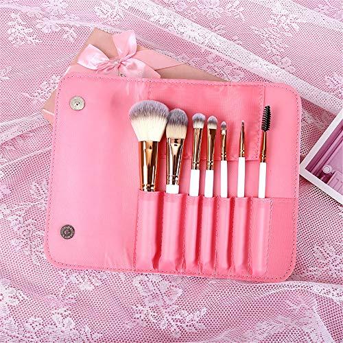 Pinceau de maquillage 7 ensembles d'oeil professionnel pinceau brosse ombre à paupières brosse portable, brosse de fondation