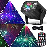 Party Lights Dj Disco Lights, 120 Patterns Wireless LED Sound Activated RGB Projector, Stage Lights with Remote Control, Timing,Rechargeable Battery, Xmas Bar Karaoke Birthday Home Decorations Lights