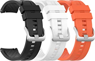 EEweca 3-Pack Silicone Bands for Huawei Watch GT Classic Replacement Strap Multi-Colored EE-190809-02