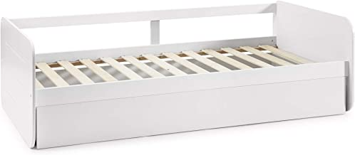VS Venta-stock Cama Nido Juvenil Cora 90X190, Color Blanco, Dimensiones: 195cm (Largo), 106cm (Ancho) y 62cm (Alto)