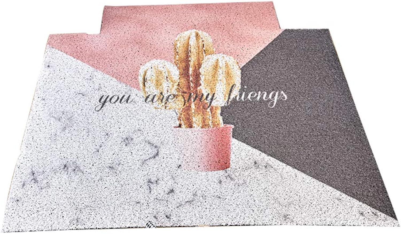 Indoor mats,Carpet Cropped Door mats Rug Front Entrance Door mat Outdoor Door mats Easy Clean-Plant 60x90cm(24x35inch)