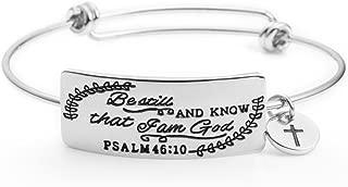 Yiyang Inspirational Bible Verse Jewelry Christian Bangle Bracelets Women Empowerment Gift for Her