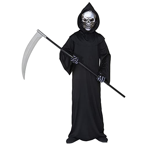 9956babdb2 WIDMANN Children s Holographic Grim Reaper 140cm Costume Medium 8-10 yrs  (140cm) for