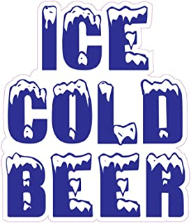 Ice Cold Beer Concession Restaurant Food Truck Die-Cut Vinyl Sticker 14 inches