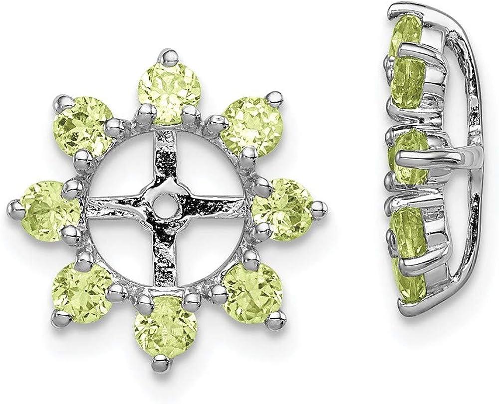 925 Sterling Silver Green Peridot Aug Earrings Seattle Mall Birthstone Jacket Free Shipping Cheap Bargain Gift