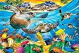 FFLFFL Puzzle para Adultos 5000 Piezas Cuatro Tortugas Divertido Juego DIY decoración del hogar