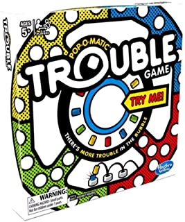Trouble Game for Kids and Adults   with Bonus Monopoly Deal