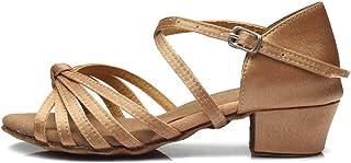 HROYL Zapatos de Baile Latino Niña Zapatos de Baile de Salon Mujer Salsa y Bachata K-203