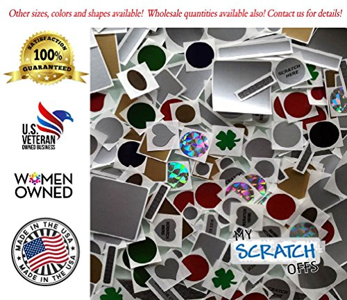 My Scratch Offs 1 Inch Silver Square Scratch Off Sticker Labels - 500 Pack Photo #8
