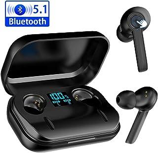 【2020最先端 Bluetooth5.1技術 即時接続】Bluetooth イヤホン ワイヤレスイヤホン「ゲーム / 音楽モード」3DステレオHi-Fi高音質 4000mAh充電ケース付き 自動ペアリング 最大800時間待ち受け ワイヤレス充電対応 両耳 LEDディスプレイ AAC/CVC8.0 ノイズキャンセリング マイク内蔵 ブルートゥース イヤホン 音量調整 Siri対応 iPhone/Android適用 英語/日本語取扱説明書