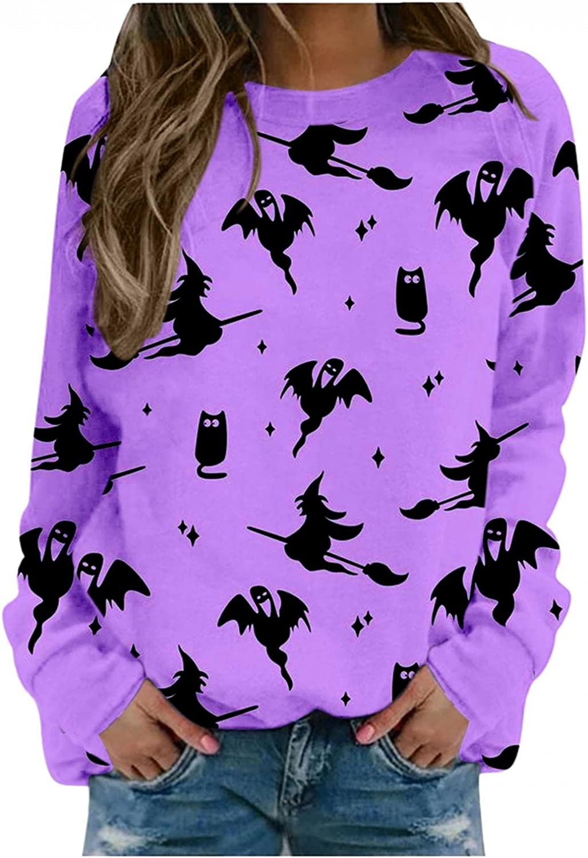 FABIURT Halloween Costumes for Women,Womens Summer Tops Graphic Tunic Long Sleeve Tee Shirts Shirts Blouses Tops