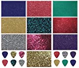 Guitar Pick Strip Pack - Pick Punch Refill Kit - Metallic Edition - Plastic Card Assortment for Guitar Pick Punch, Includes 10 Different Styles - Nextronics