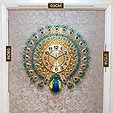 GRENSS - Reloj de pared, diseño de pavo real