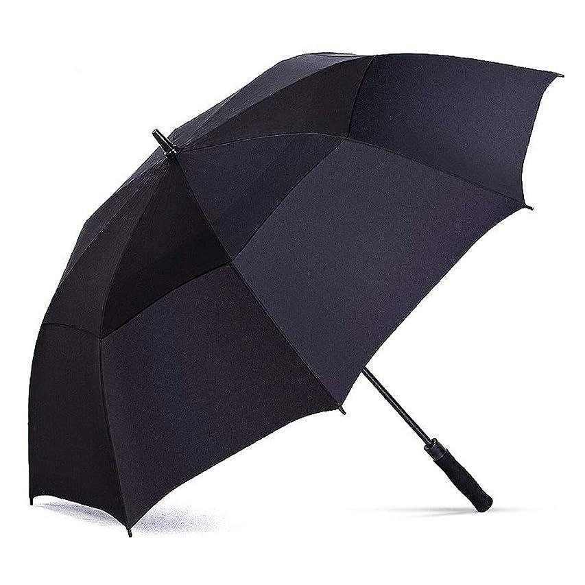 道徳の一過性お祝いYSJXB 日傘 ゴルフ傘の打撃の布の長いハンドルの傘、極度の強いビジネス補強の防風傘 アンブレラ防風性、防雨性、UVカット、日焼け止め、太陽 (Color : Black)