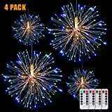 Fairy String Lights Wire Christmas Lights,120 LED DIY 8 Modes Dimmable Lights with Remote Control, Waterproof Decorative Hanging Starburst Lights for Christmas, Home, Patio, Indoor Outdoor Decoration