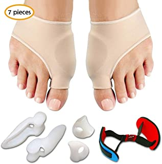 Bunion Corrector & Bunion Relief Protector Sleeves Kit, Hamkaw Bunion Pads Cushion Bunion Protector For Men Women Kids, Treat Pain In Hallux Valgus, Hammer Toe, Big Toe Joint Set Of 7