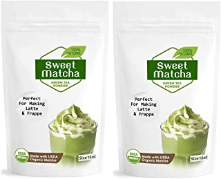 Sweet Matcha Latte Green Tea Powder Mix from Japan 12oz – 2 pack