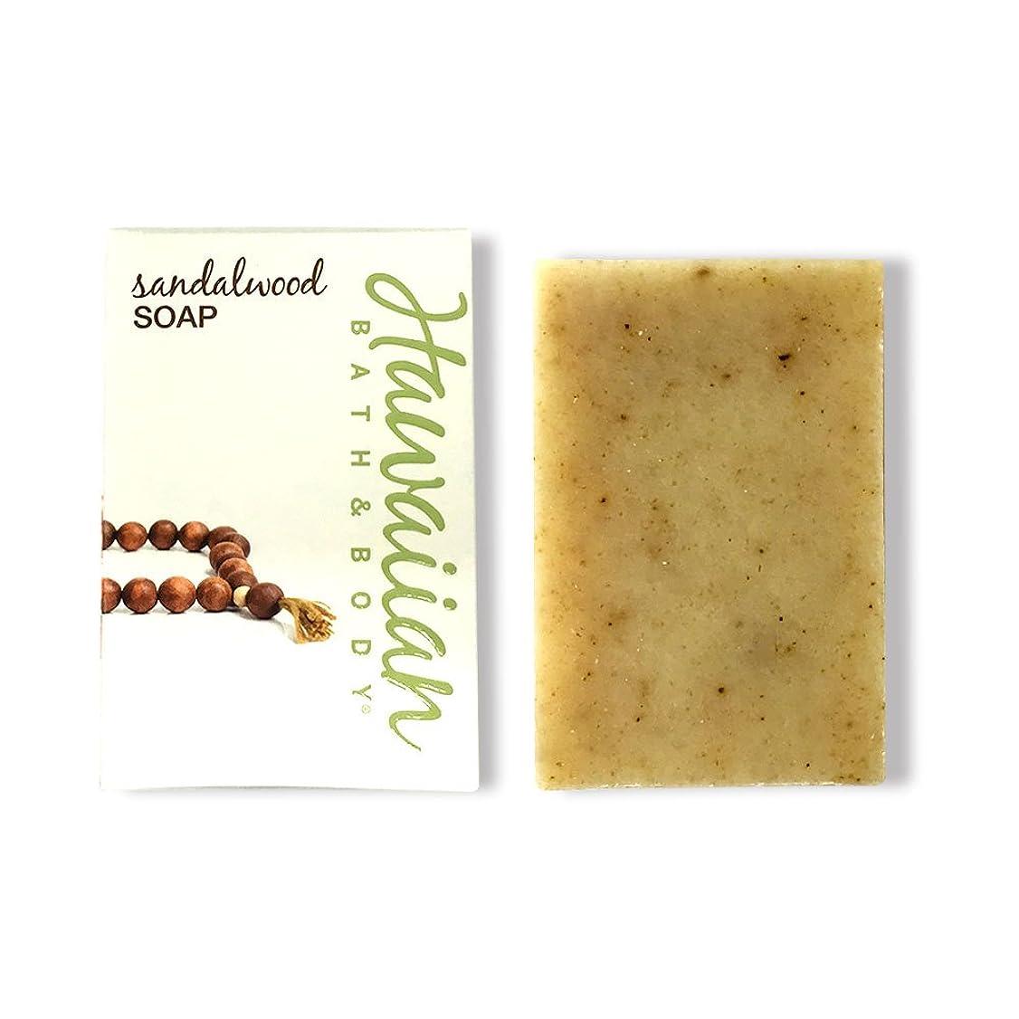 パフ考古学六ハワイアンバス&ボディ サンダルウッドソープ ( Sandalwood Soap )
