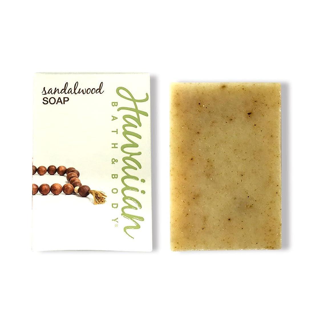 腹痛流うぬぼれたハワイアンバス&ボディ サンダルウッドソープ ( Sandalwood Soap )