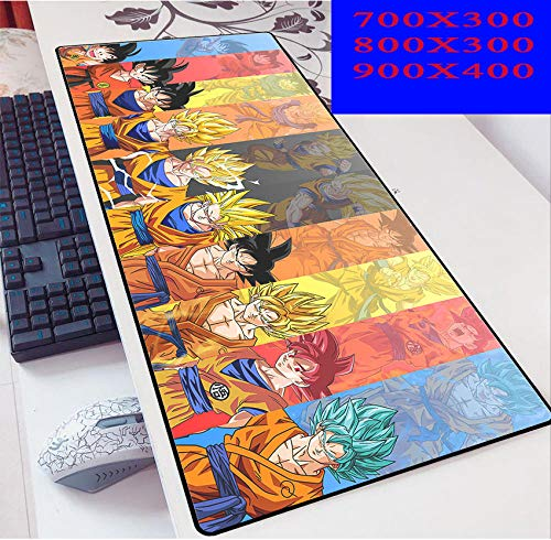 Dragon Ball Grandes Mouse Pad Impermeable con Base de Goma Antideslizante,Special-Textured Superficie para Gamers Ordenador, PC y Laptop