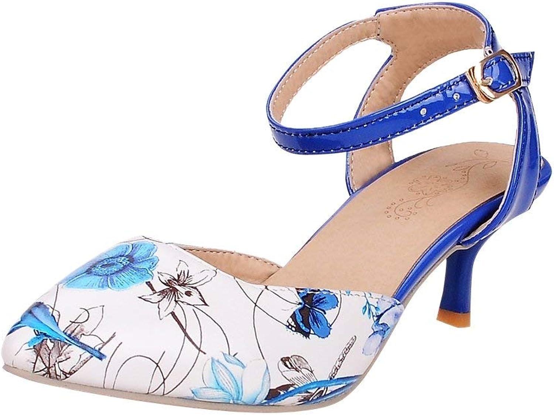Lelehwhge Women's Ankle Strap Mid Heel Kitten Heel Dress shoes White Black 8 M US