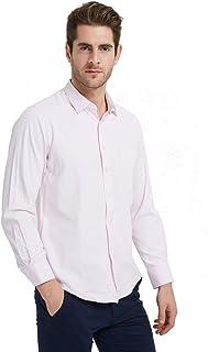 Ebind Men's Oxford Button Up Shirt Long Sleeve Non Iron