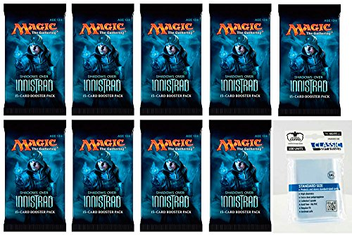 9 x Magic MTG Shadows over Innistrad - Booster Pack - Englisch - English + 100 Ultimate Guard Cards Softsleeves - 9 Boosterpackungen Magic: The Gathering