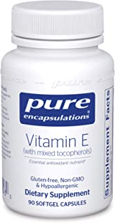 Pure Encapsulations - Vitamin E (with Mixed Tocopherols) - Dietary Supplement for Proper Cellular and Cardiovascular Funct...
