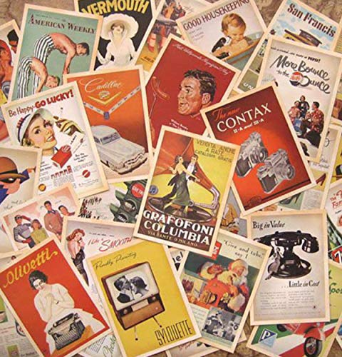 64 Pcs 2 Set Vintage Retro Old Travel Postcards for Worth Collecting, Collectable Vintage Postcards Bulk Pack