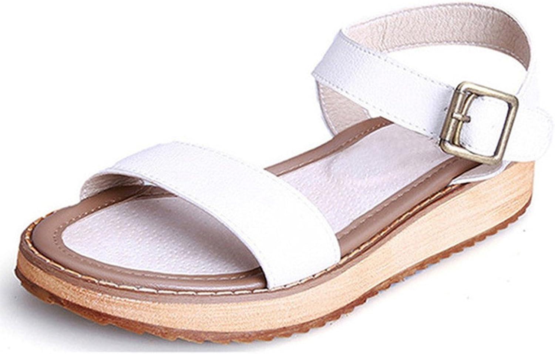 Giles Jones Wedge Thong Flat Sandal,Casual Buckle Open Toe Platform Flip-Flop Beach shoes