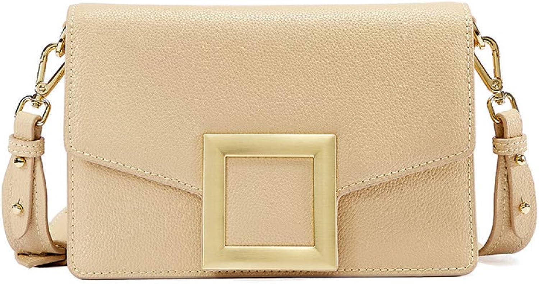 IHMBUI Quadratische Schnalle Crossbody Taschen für Frauen Handtaschen Frauen Taschen Designer Split Leder Messenger Bag Umhngetasche