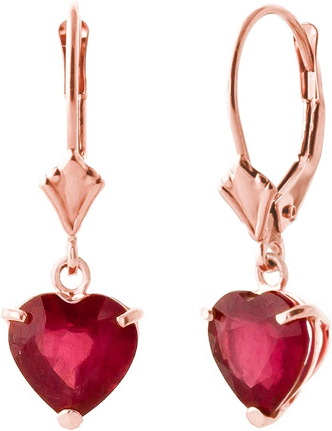 Galaxy Gold 2.9 Year-end annual account CTW 14k Solid Leverback Earrings Over item handling ☆ Heart Rose