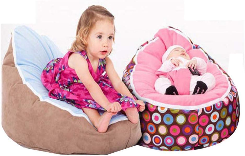 HGA Pouf Bébé Paresseux Canapé Lit d'allaitement Bébé Alimentation Inclinable Siège Soutien Mobile Apprendre S'asseoir Coussin Doux Oreiller pour Bébé,M L