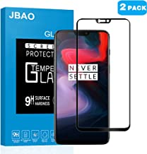 [2-PACK] Oneplus 6 Screen Protector,Jbao Direct [Ultra Clear] [Full Screen Coverage] [No Bubble] [Anti-fingerprint] [2.5D Arc Edge] 9H Hardness Tempered Glass Film for OnePlus 6 (Black)