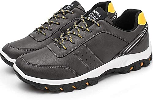DSX Chaussures de Course pour Homme Chaussures de Sport Tout-Aller PU Noir Et Blanc Noir Et Rouge Noir Et Jaune, Jaune, EU39   UK6   CN39