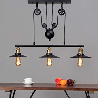 KOSILUM - Lampe industrielle suspension - Triple Piattino - EN SOLDES ! - Lumière Blanc Chaud Eclairage Salon Chambre Cuis...