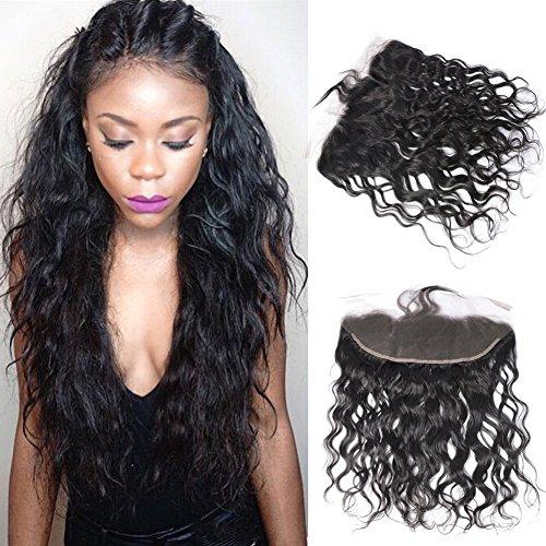 Brazilian Water Wave Lace Frontal 1pc 18 inch Brazilian Virgin Hair Ear to Ear frontal Closue With Baby Hair GEM Beauty Hair Company