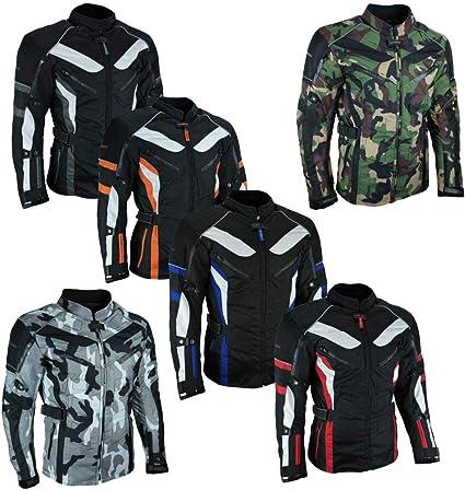 Heyberry Touren Motorrad Jacke Motorradjacke Textil Camouflage Grün Gr Xl Auto
