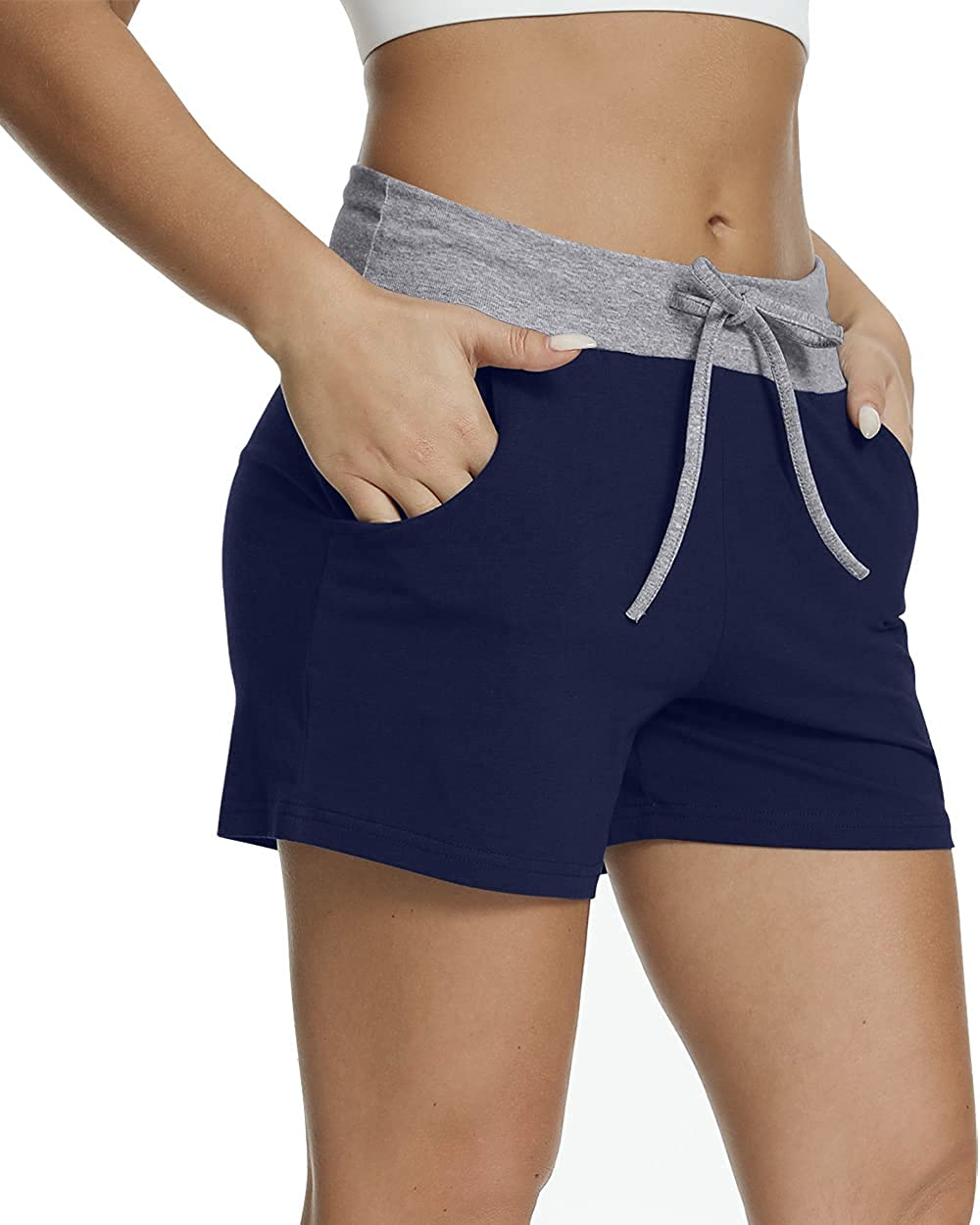CATHY Women's Summer Casual Athletic Shorts Drawstring Loungewear Pants Elastic Comfy Pajama Shorts