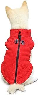 Gooby - Zip Up Fleece Vest, Fleece Jacket Sweater with Zipper Closure and Leash Ring